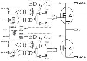 3-phase SiC power modules are liquid or AlSiC air-cooled