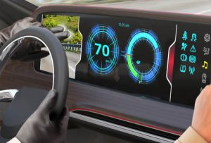Touch control for very wide automotive displays